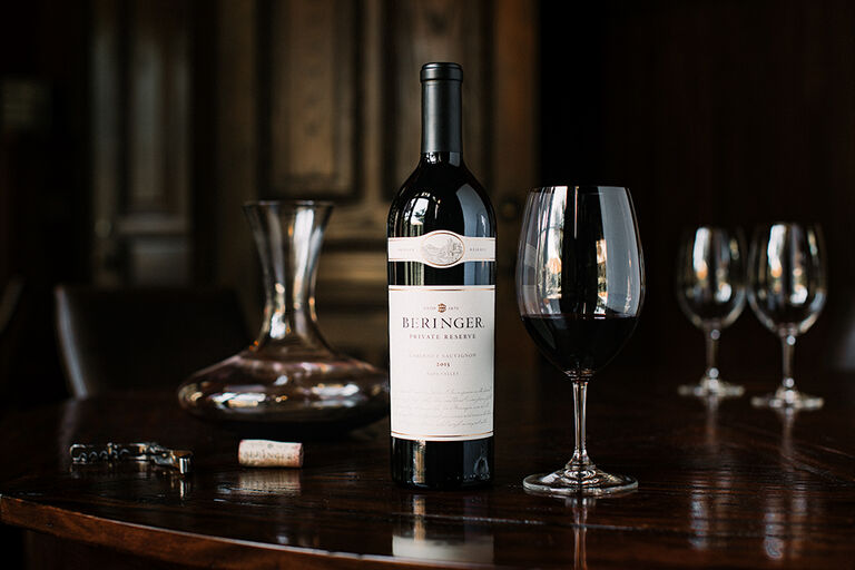 Beringer Private Reserve Cabernet Sauvignon & Decanter
