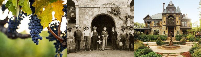 Grape Cluster, Historic Beringer Photograph, Rhine House