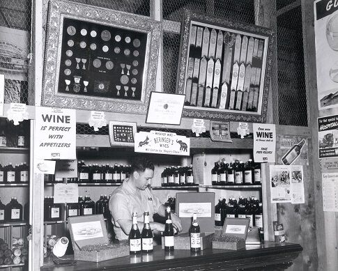 Historical Photograph of Beringer Wines in Store
