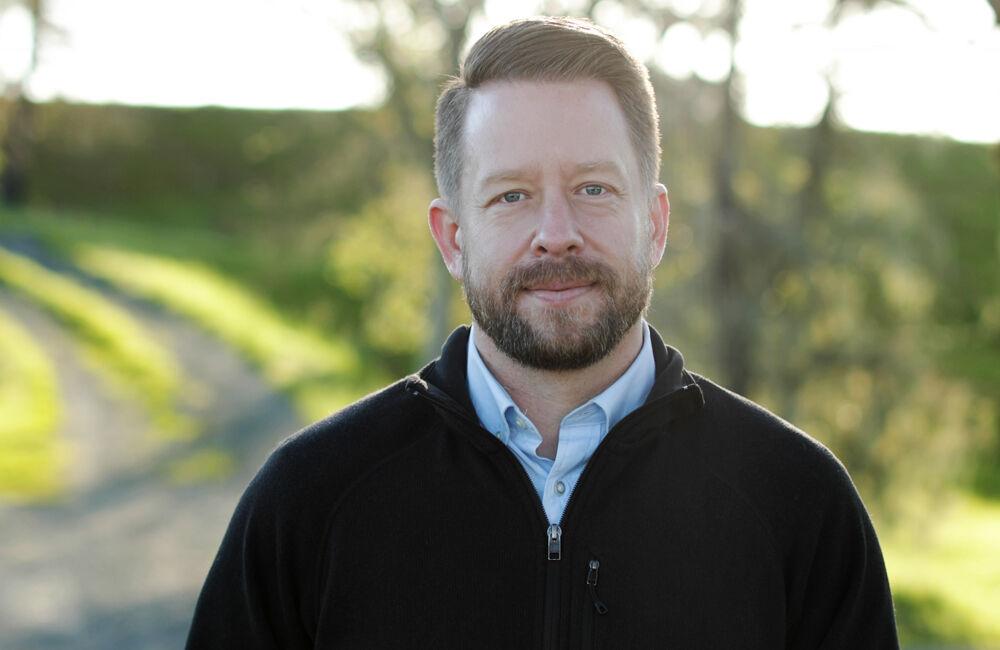 Mark Beringer in Vineyard