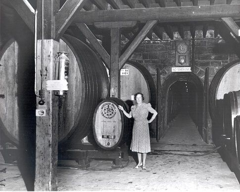 Historical Photograph of Beringer Cellar