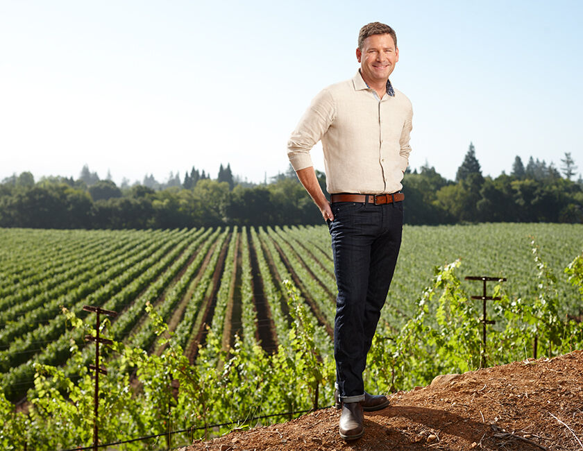 Mark Beringer in Vineyard