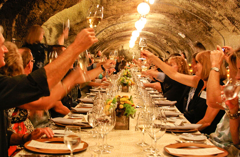 Wine cave dinners