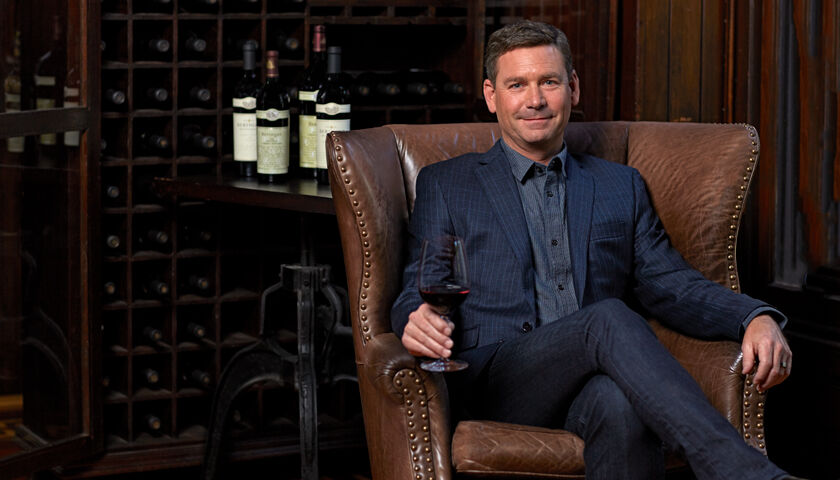 Mark Beringer With Glass of Cabernet Sauvignon