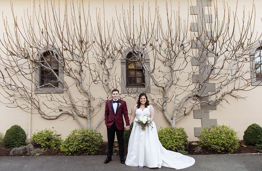 Wedding couple at Beringer winery