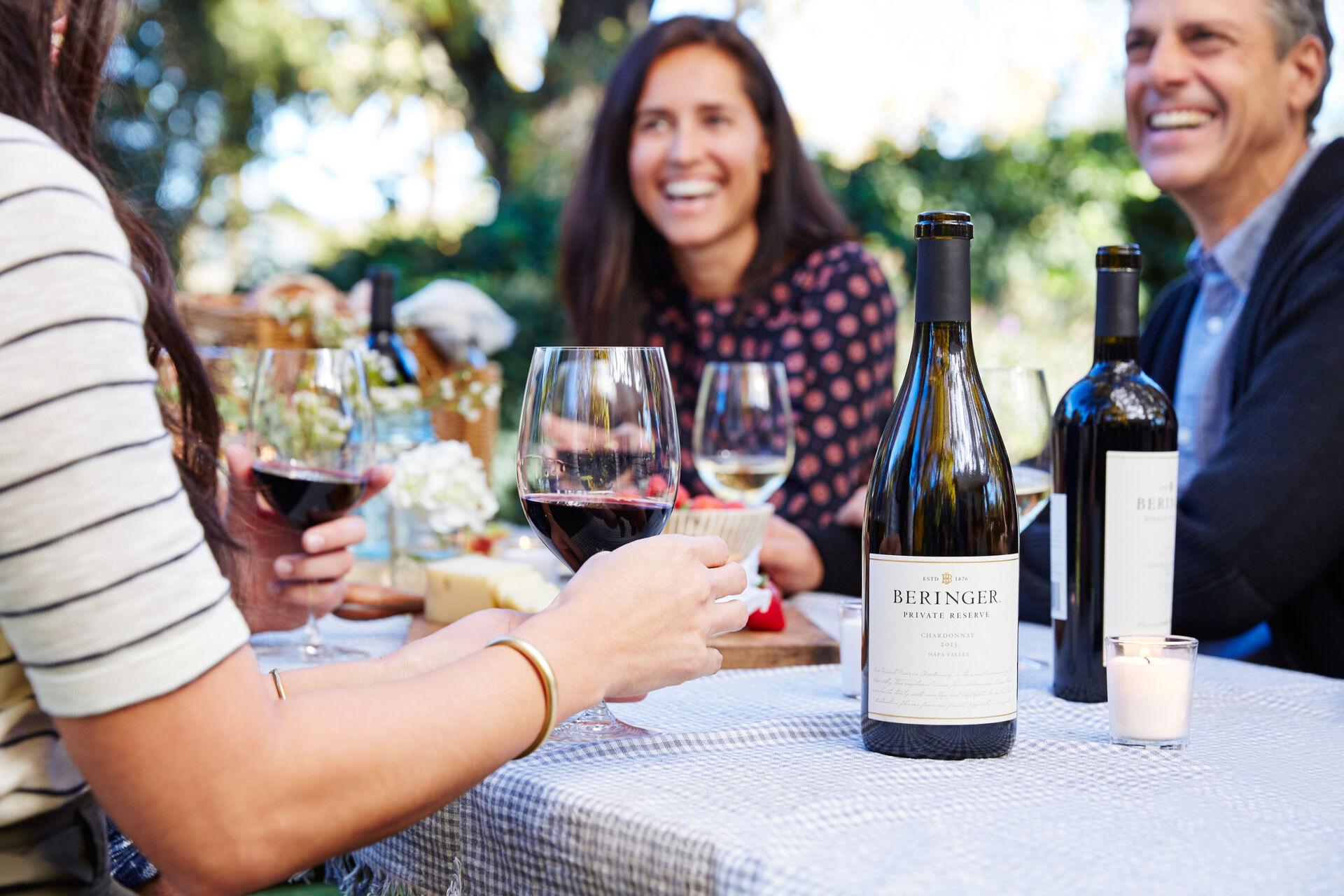 Club Members Enjoying Beringer Wines