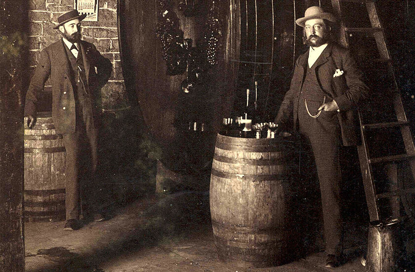 Historical Photograph of Beringer Winery