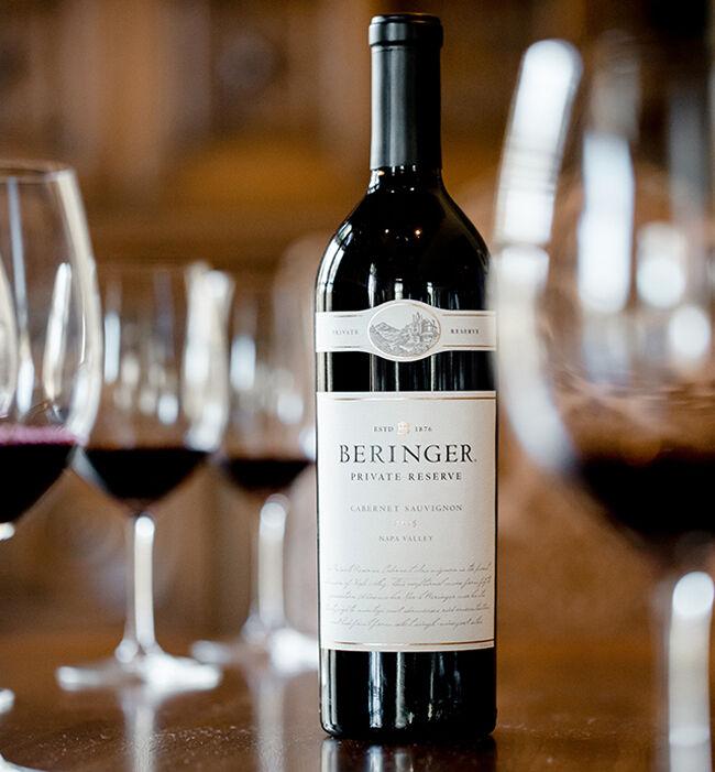 Bottle of Beringer Private Reserve Cabernet Sauvignon for Wine Club Private Tasting