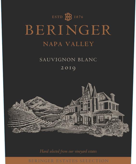 2019 Beringer Winery Exclusive Napa Valley Sauvignon Blanc Front Label