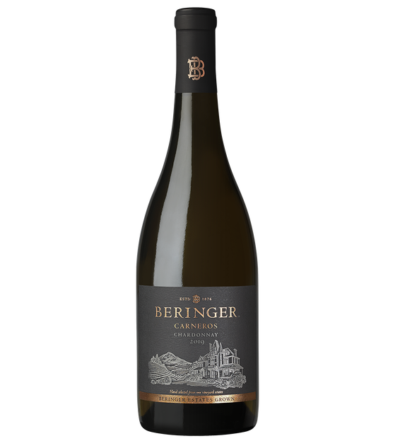 2019 Beringer Winery Exclusive Carneros Chardonnay Bottle Shot