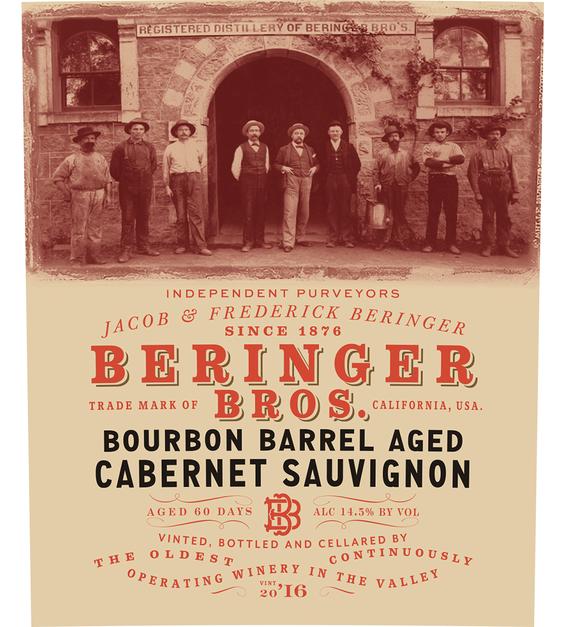 2016 Beringer Brothers Bourbon Barrel Aged Cabernet Sauvignon Front Label