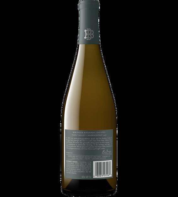 2018 Beringer Napa Valley Chardonnay Bottle Shot Back Label
