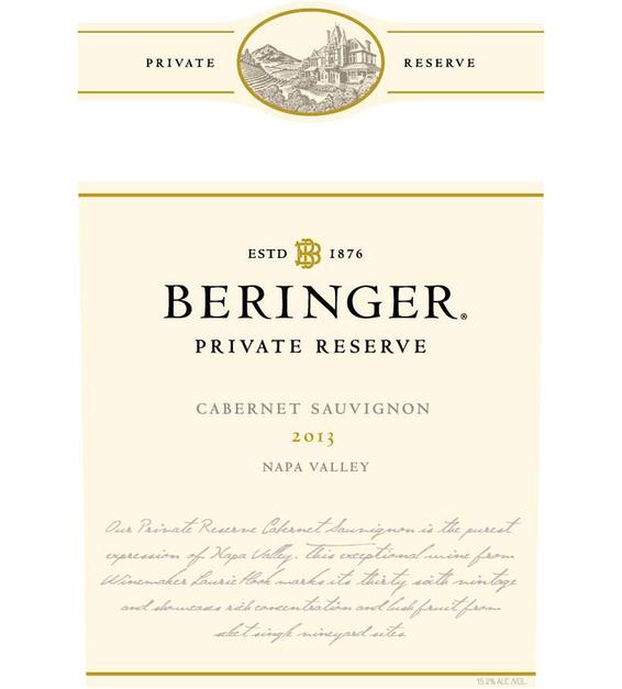 2013 Beringer Private Reserve Napa Valley Cabernet Sauvignon
