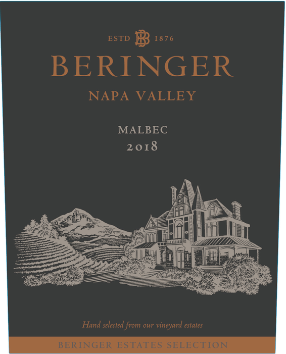 2018 Beringer Winery Exclusive Napa Valley Malbec Front Label