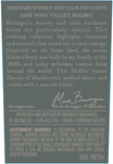 2018 Beringer Winery Exclusive Napa Valley Malbec Back Label, image 3