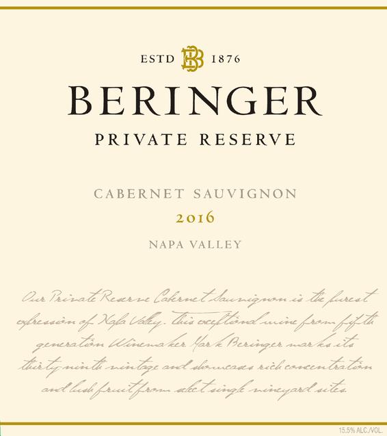 2016 Beringer Private Reserve Napa Valley Cabernet Sauvignon Magnum