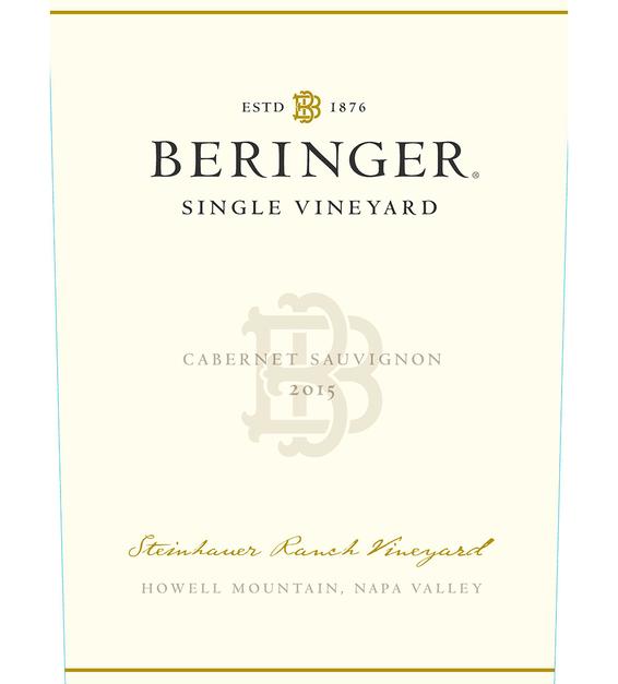 2015 Beringer Steinhauer Ranch Howell Mountain Cabernet Sauvignon Front Label