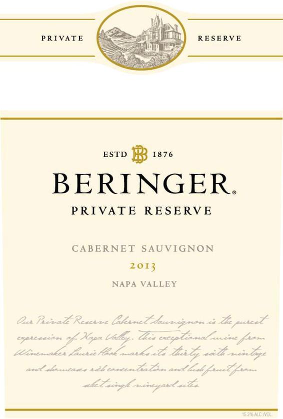 2013 Beringer Private Reserve Napa Valley Cabernet Sauvignon Magnum