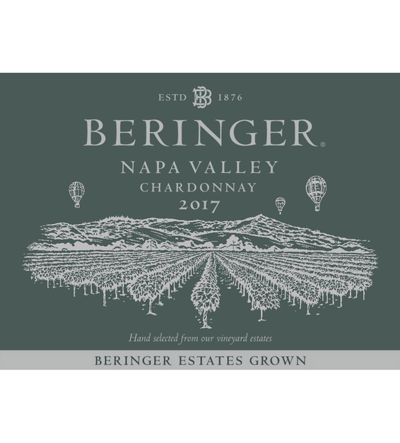 2017 Beringer Napa Valley Chardonnay Front Label