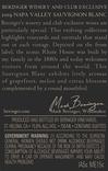 2019 Beringer Winery Exclusive Napa Valley Sauvignon Blanc Back Label, image 3