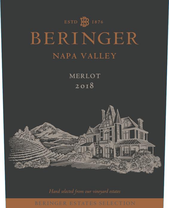 2018 Beringer Winery Exclusive Napa Valley Merlot Front Label