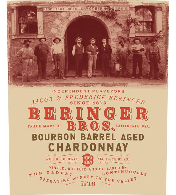 2016 Beringer Brothers Bourbon Barrel Aged Chardonnay Front Label