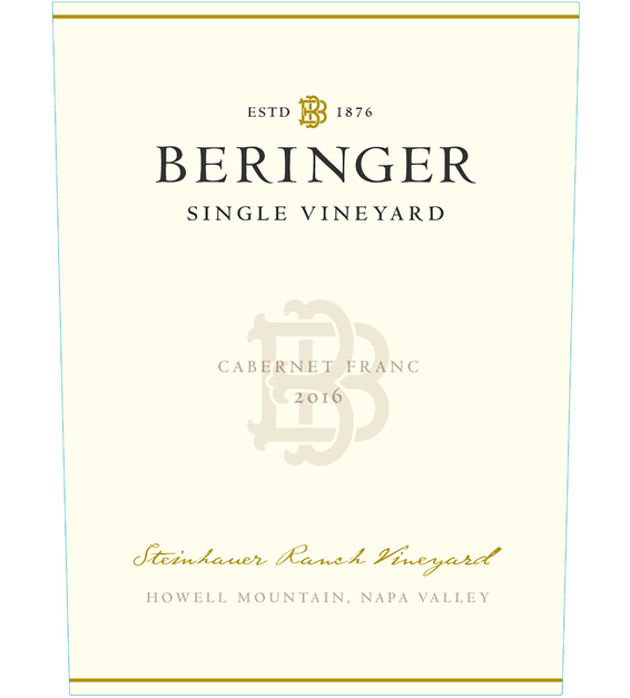 2016 Beringer Steinhauer Ranch Howell Mountain Cabernet Franc Front Label