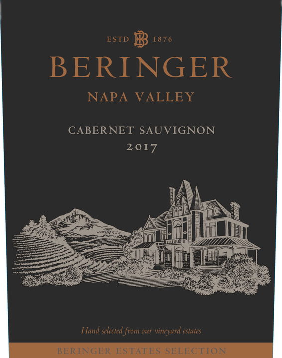 2017 Beringer Winery Exclusive Napa Valley Cabernet Sauvignon Front Label