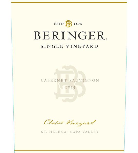 2015 Beringer Chabot Vineyard Saint Helena Cabernet Sauvignon Front Label