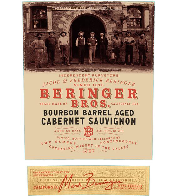 2017 Beringer Brothers Bourbon Barrel Aged Cabernet Sauvignon Front Label
