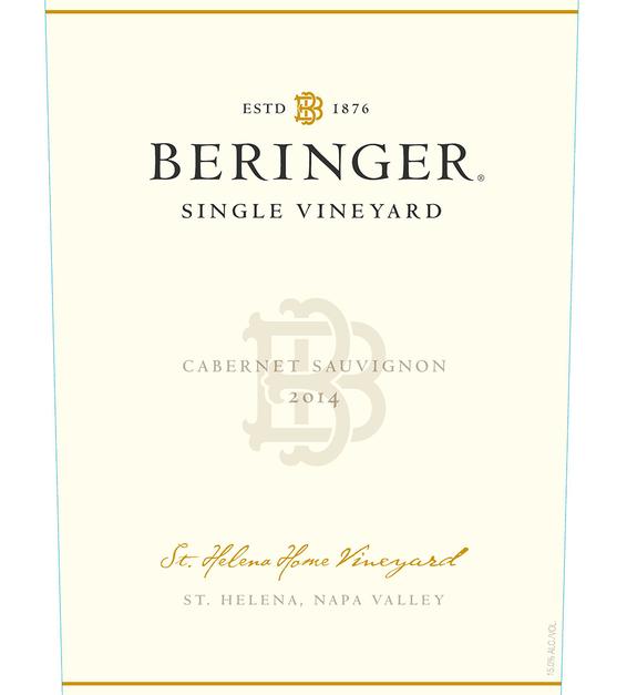 2014 Beringer Saint Helena Home Vineyard Saint Helena Cabernet Sauvignon Front Label