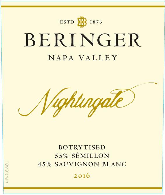 2016 Beringer Nightingale Napa Valley Semillon Sauvignon Blanc Front Label