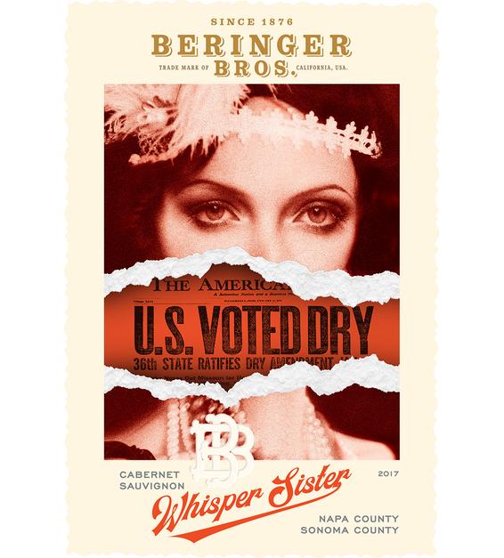 2017 Beringer Whisper Sisters Cabernet Sauvignon Front Label