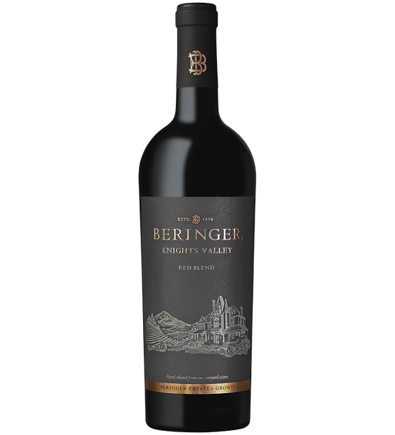 2018 Beringer Winery Exclusive Knights Valley Red Blend Bottle Shot