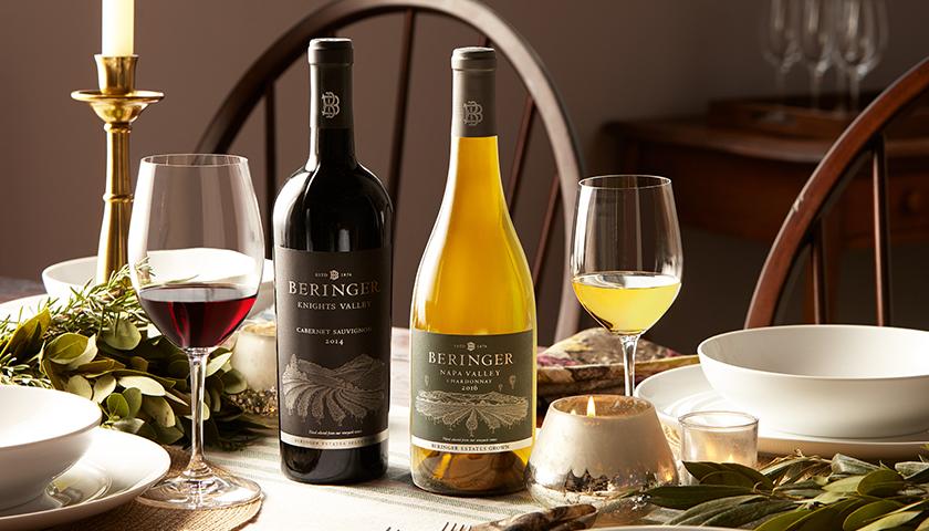 Beringer Knights Valley Cabernet Sauvignon & Napa Valley Chardonnay